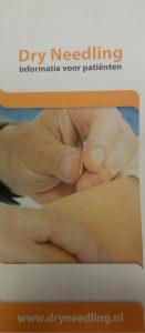 Folder patienteninformatie Dry Needing
